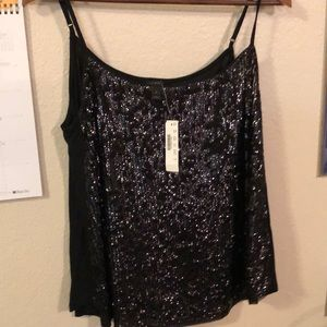 J Crew sequined sparkly tank top - M - NWT